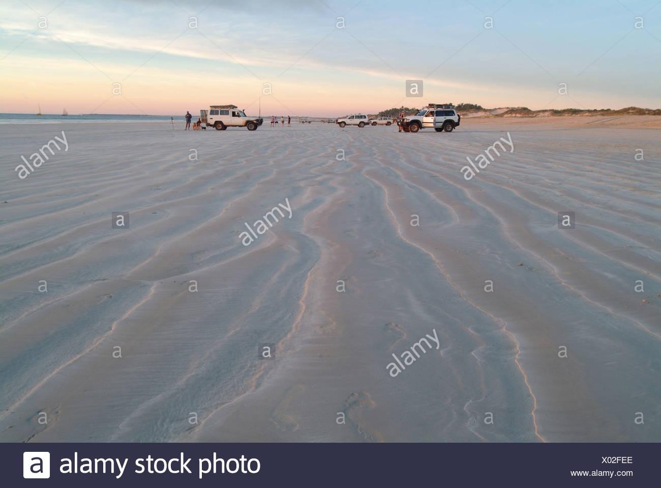 Off-Road-Fahrzeug, Cable Beach, Broome, Kimberleys, Western Australia Stockbild