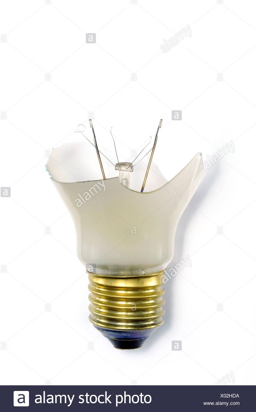 Eine defekte Glühbirne Stockbild