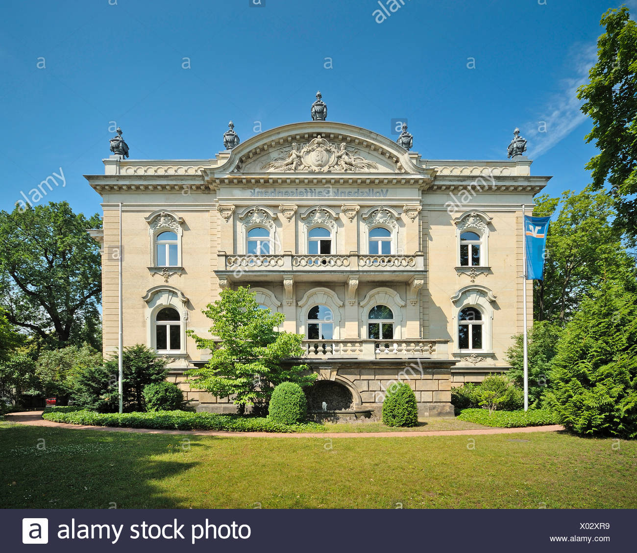 villa eschebach ein neo barocken herrenhaus sitz der vr bank dresden sachsen deutschland. Black Bedroom Furniture Sets. Home Design Ideas