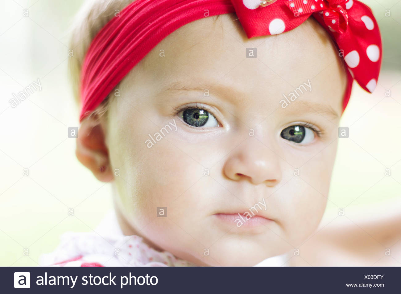 Close-up Portrait Of A Pretty Baby Girl Stockbild