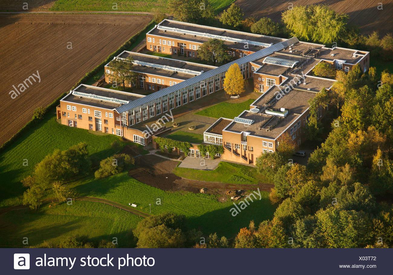 Luftaufnahme, Justizakademie, Weiterbildung Akademie, Recklinghausen, Ruhrgebiet, Nordrhein-Westfalen, Deutschland, Europa Stockbild