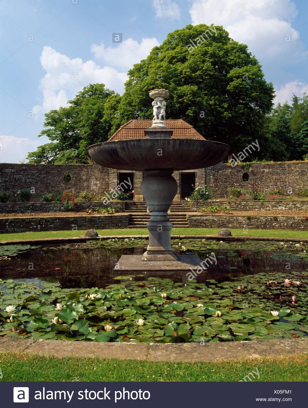 Brunnen Pool Der Versunkene Garten Design Von Edwin Lutyens