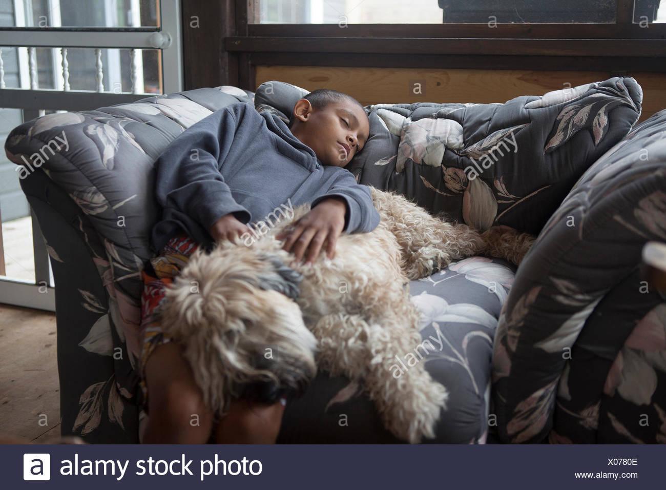 Schlafende junge Stockbild