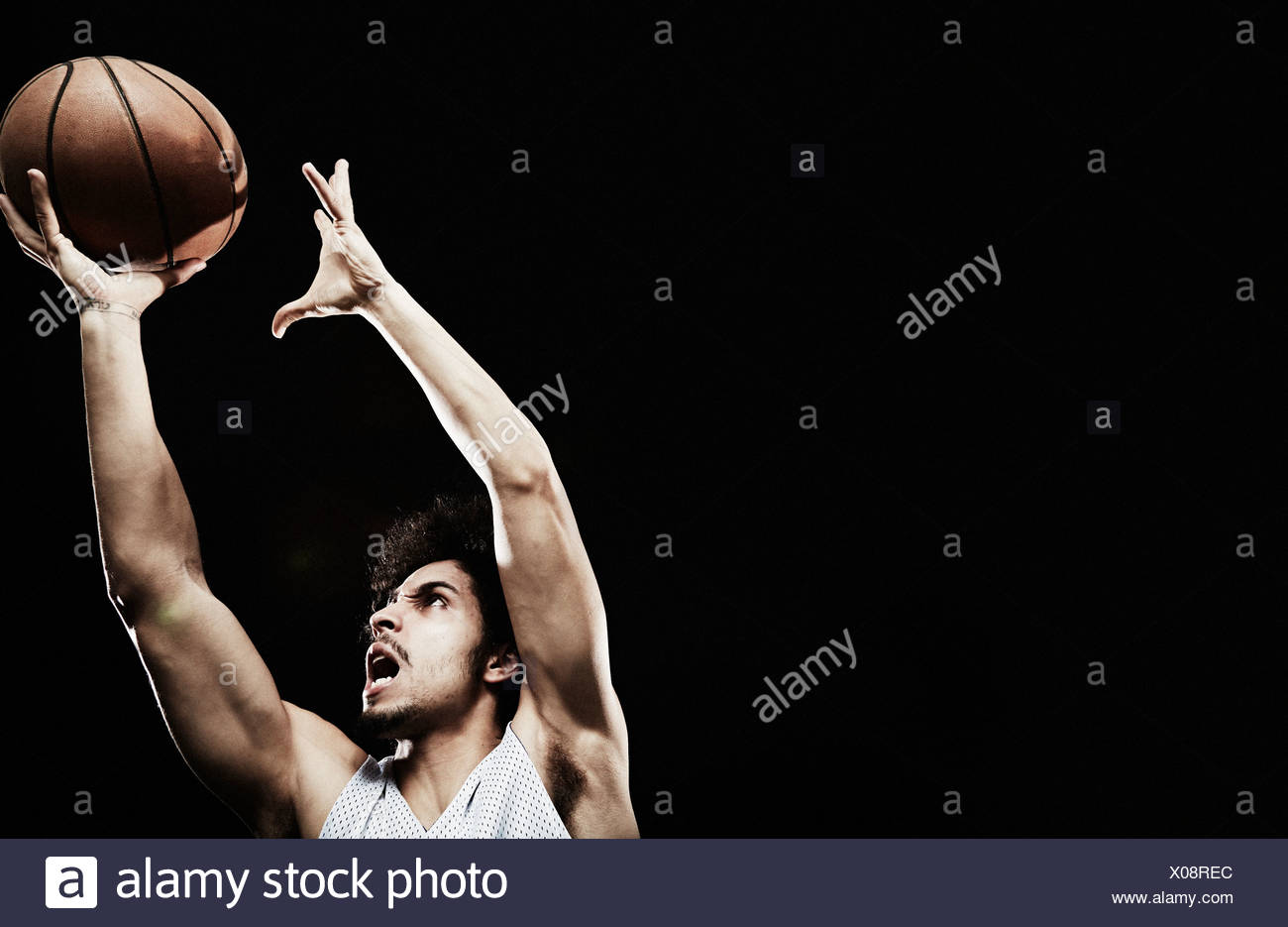 Fang von Basketball Basketball-Spieler Stockfoto
