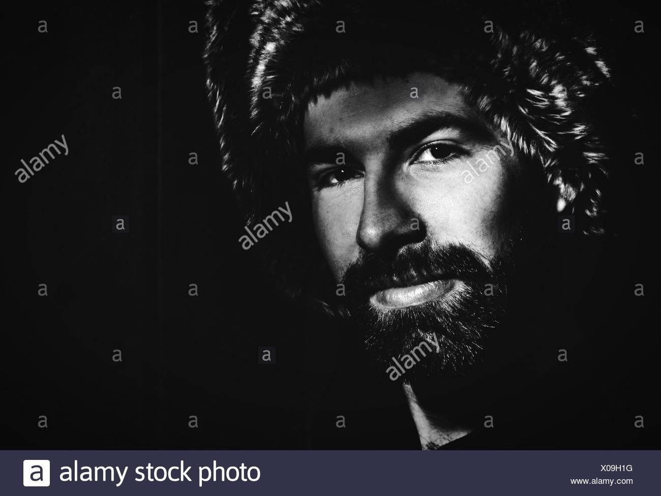 Portrait Of Smiling jungen Mann Stockbild