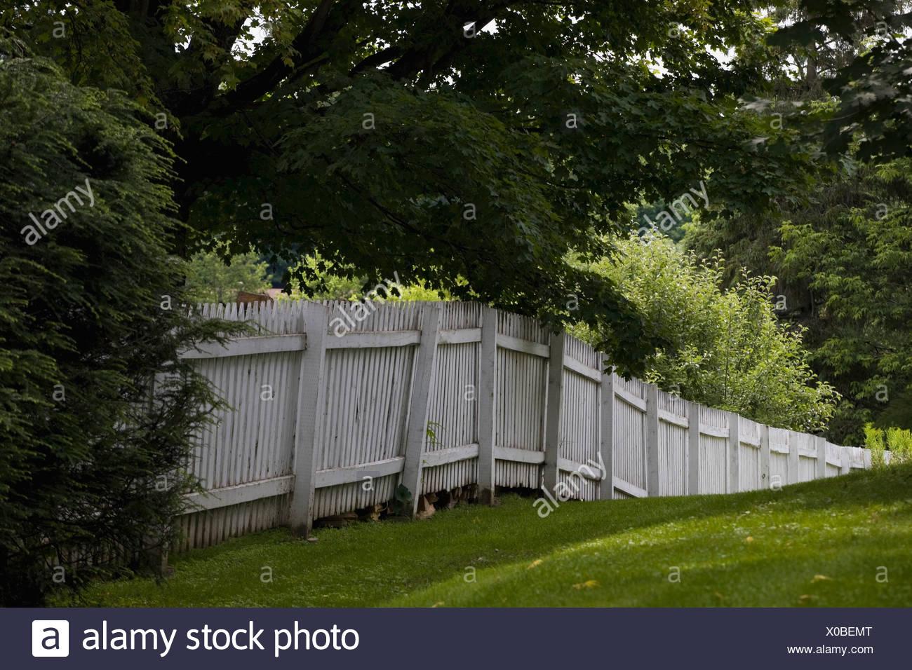 weißer zaun, knowlton, quebec, kanada stockfoto, bild: 275618920 - alamy