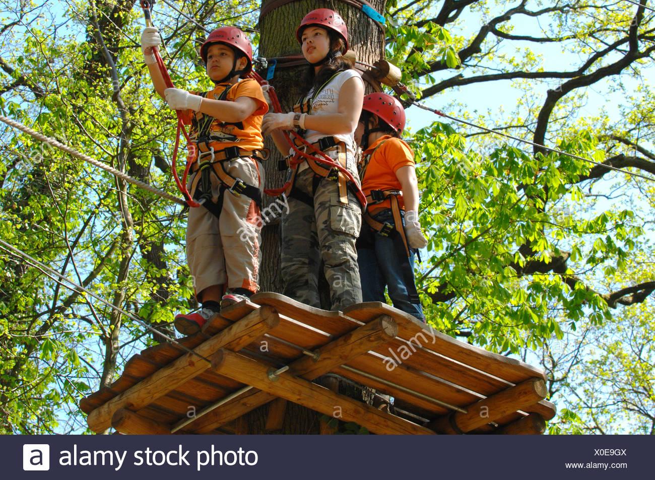 Kletterausrüstung Outdoor : Kinder mit kletterausrüstung klettern wald neroberg wiesbaden