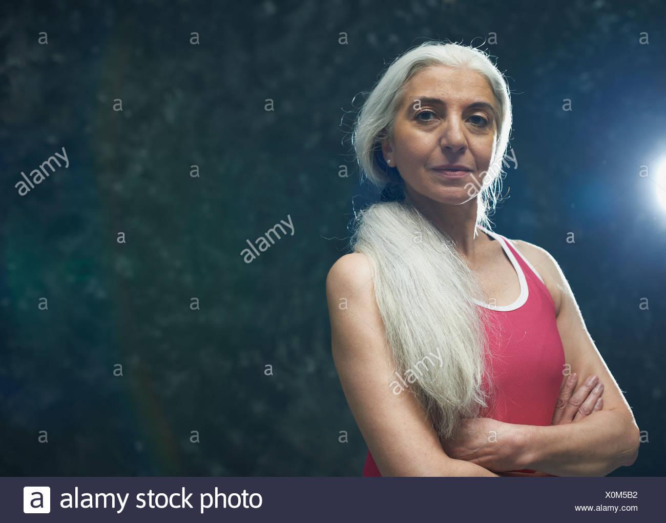 Haaren frauen mit langen grauen Graue Haare