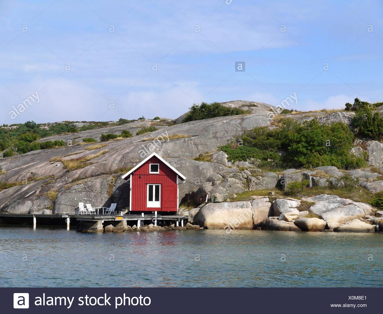 Schweden Rock Brücke Reclining Stuhl Wasser Urlaub Urlaub Urlaub
