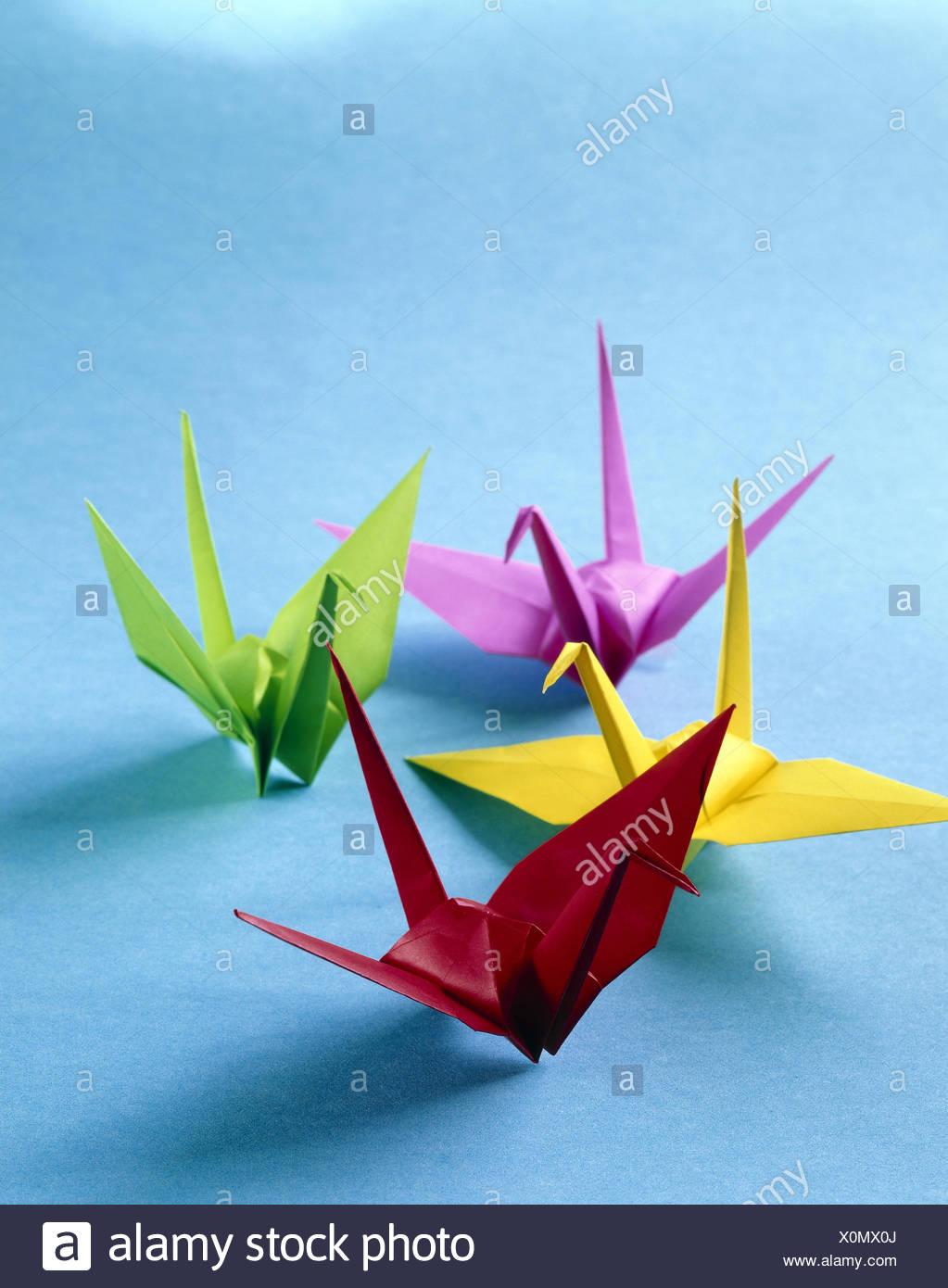 Origami Die Japanische Papierfalten Kunst Tiere Vögel Hell