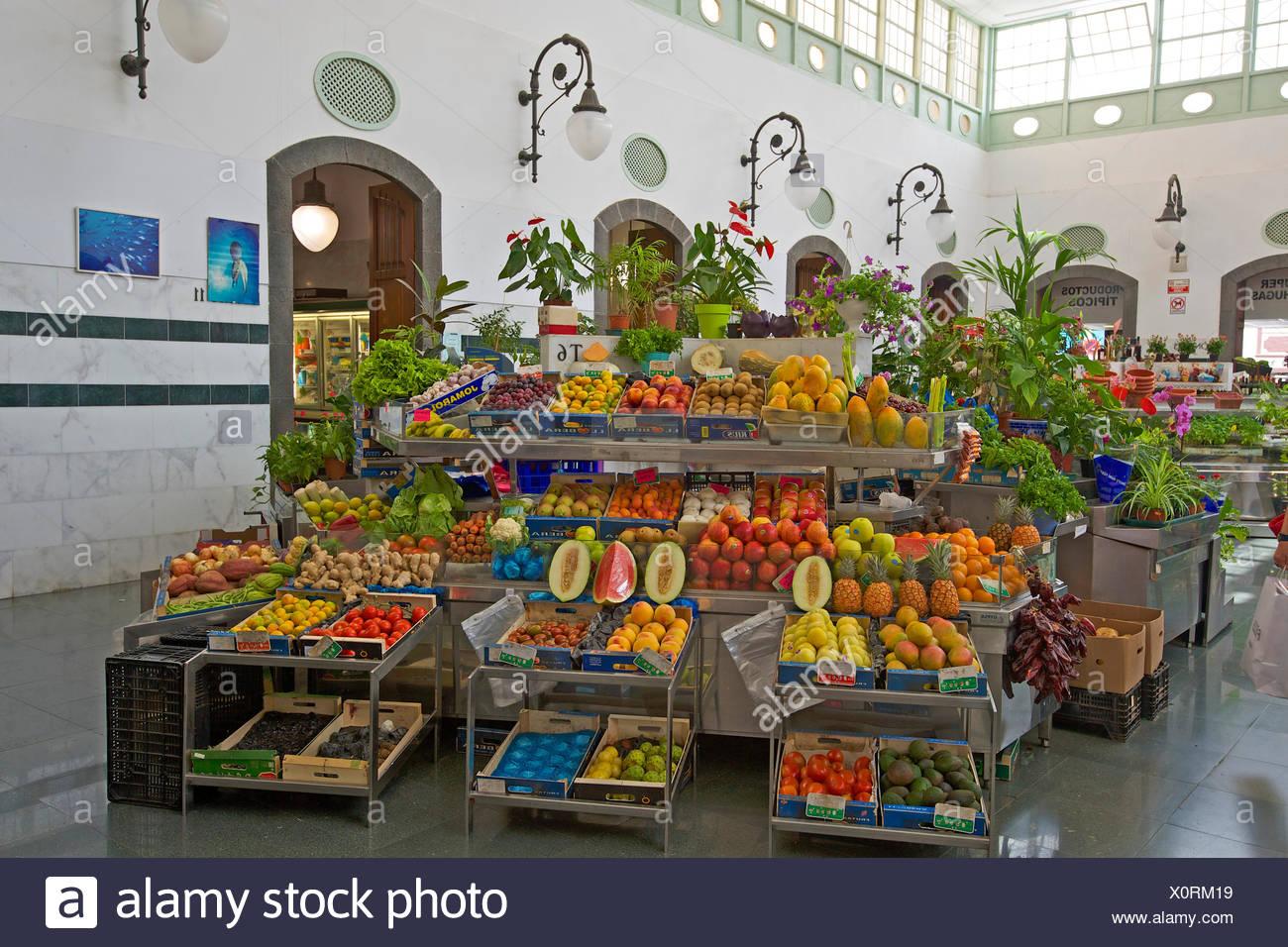 Kanaren, Kanarische Inseln, Inseln, La Palma, Spanien, Europa, Tag, niemand, bedeckt-Markt, Markt, innen, Santa Cruz De La Palma, f Stockbild