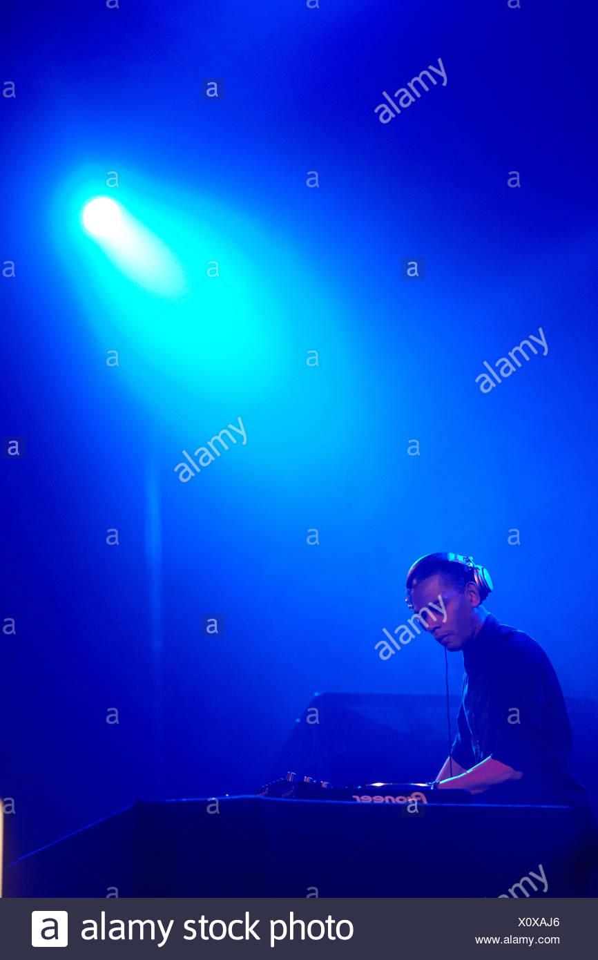 DJ Jeff Mills, Techno-Festival Mayday 2011 in der Westfalenhalle Dortmund Veranstaltungsort, Dortmund, Nordrhein-Westfalen Stockbild