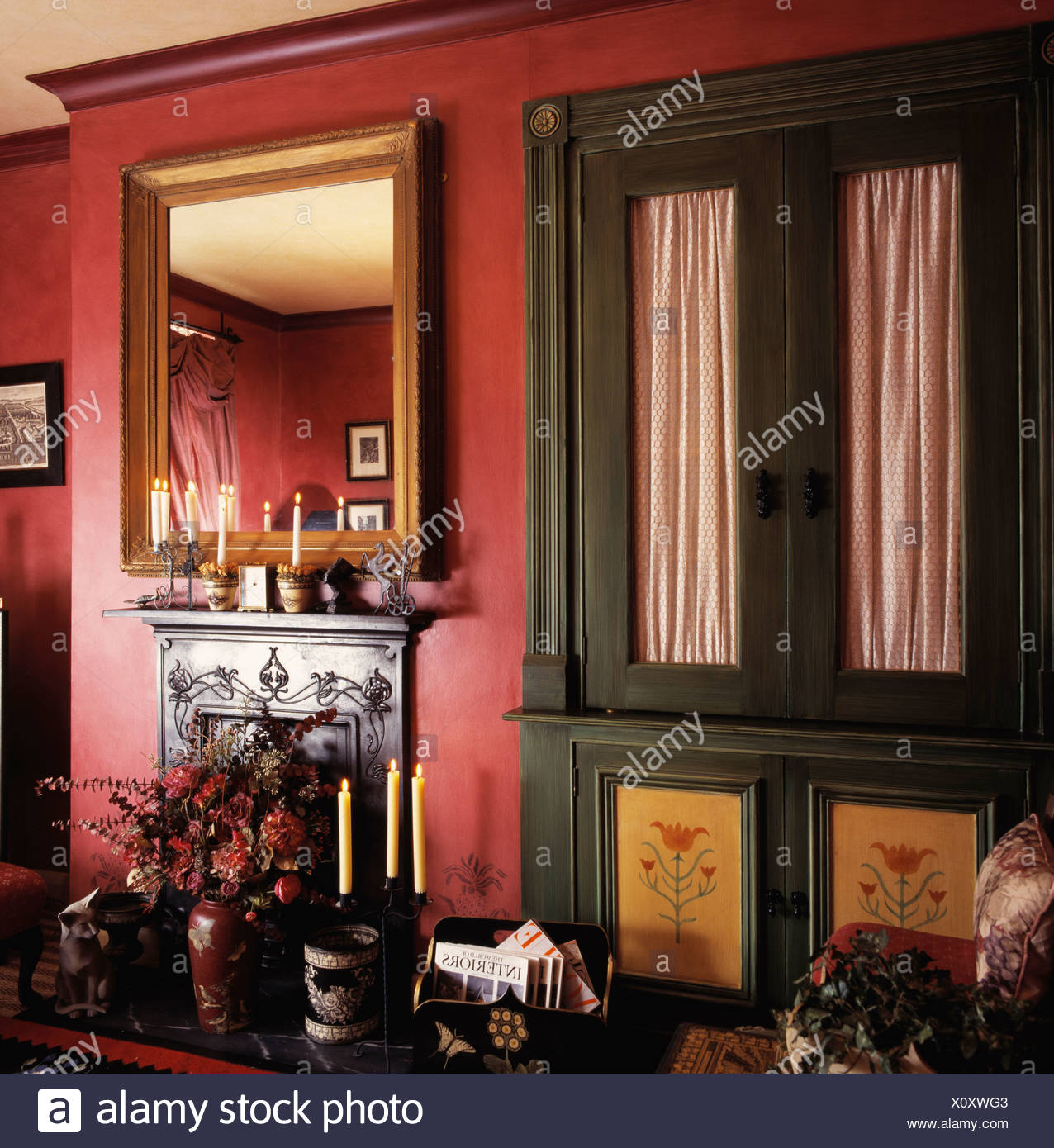 Wunderbar Großes Glas Gerahmten Spiegel Zeitgenössisch ...