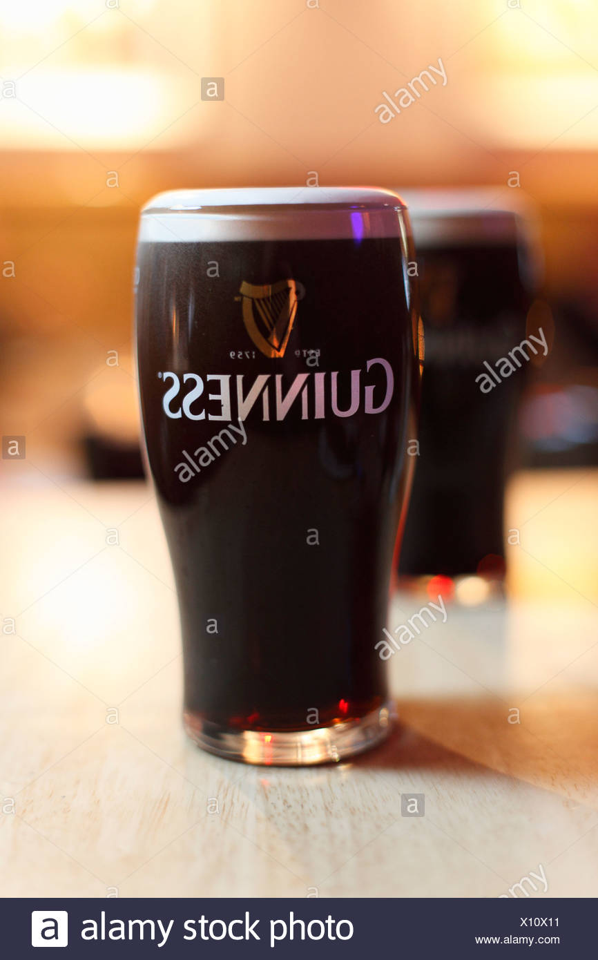Pint Guinness Stout Bier, Irland, britische Inseln, Europa Stockbild