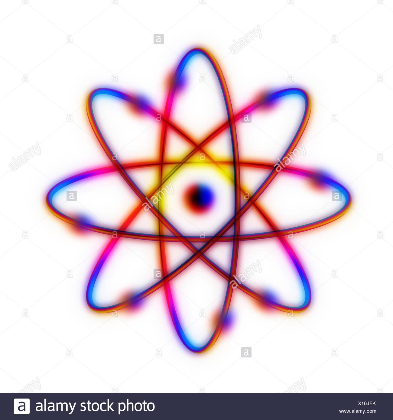 Atomare Struktur. Konzeptionelle Computer Artwork der Struktur des ...