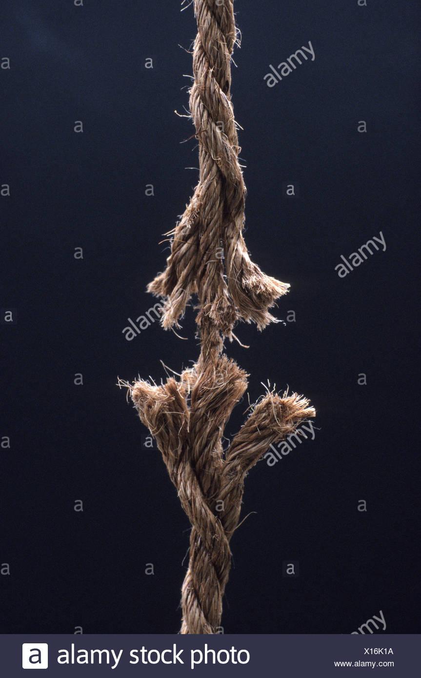 Seil zu brechen. Stockbild