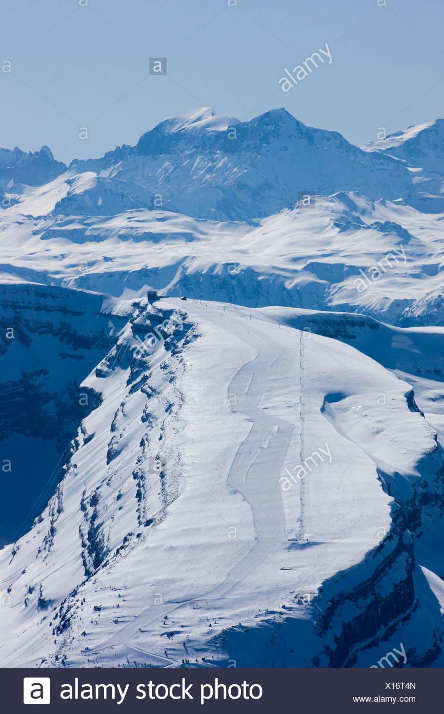 St. Gallen, Säntis, Chäserrugg, Berg, Berge, Toggenburg, Schweiz, Europa, Winter, Schnee, Ski, Steigung, Stockbild