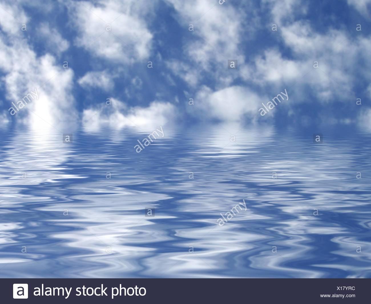 Blick auf das Meer Stockbild