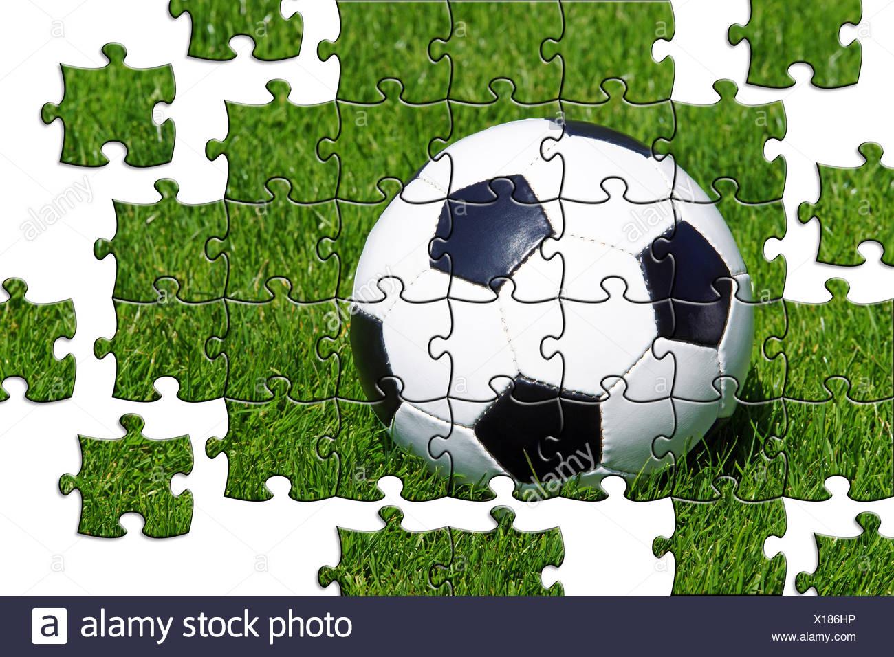 Fussball Puzzle Stockfoto Bild 276161362 Alamy