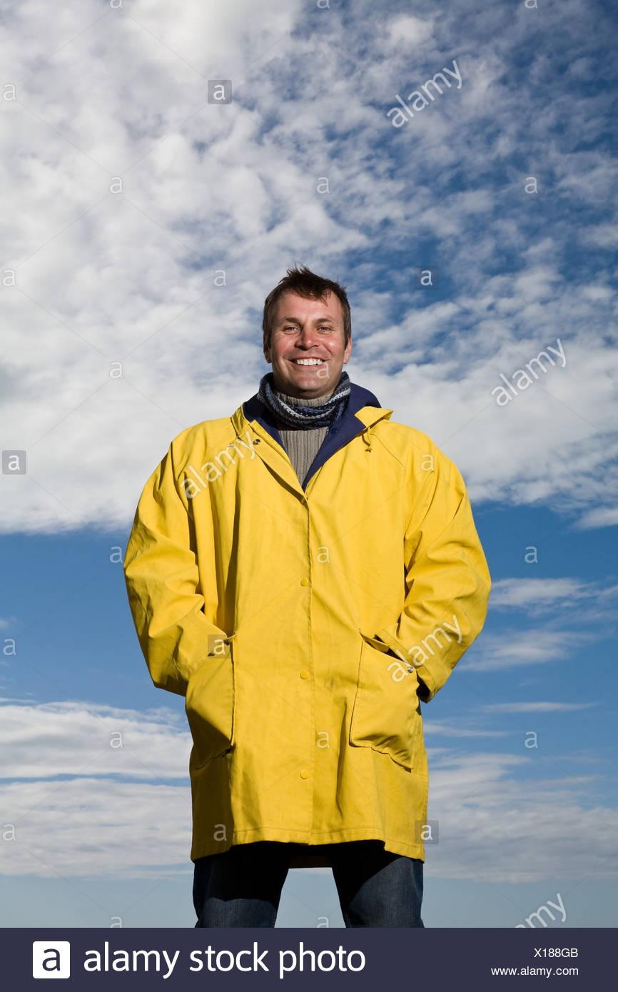 Porträt von einem reifen Mann Stockbild