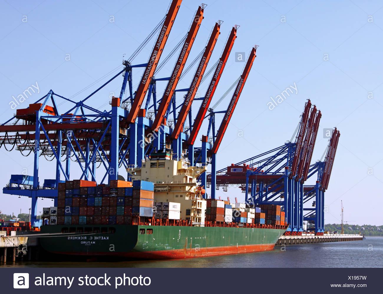 Käthe C Rickmers Am Burchardkai Hamburg Stockfoto Bild 276182253