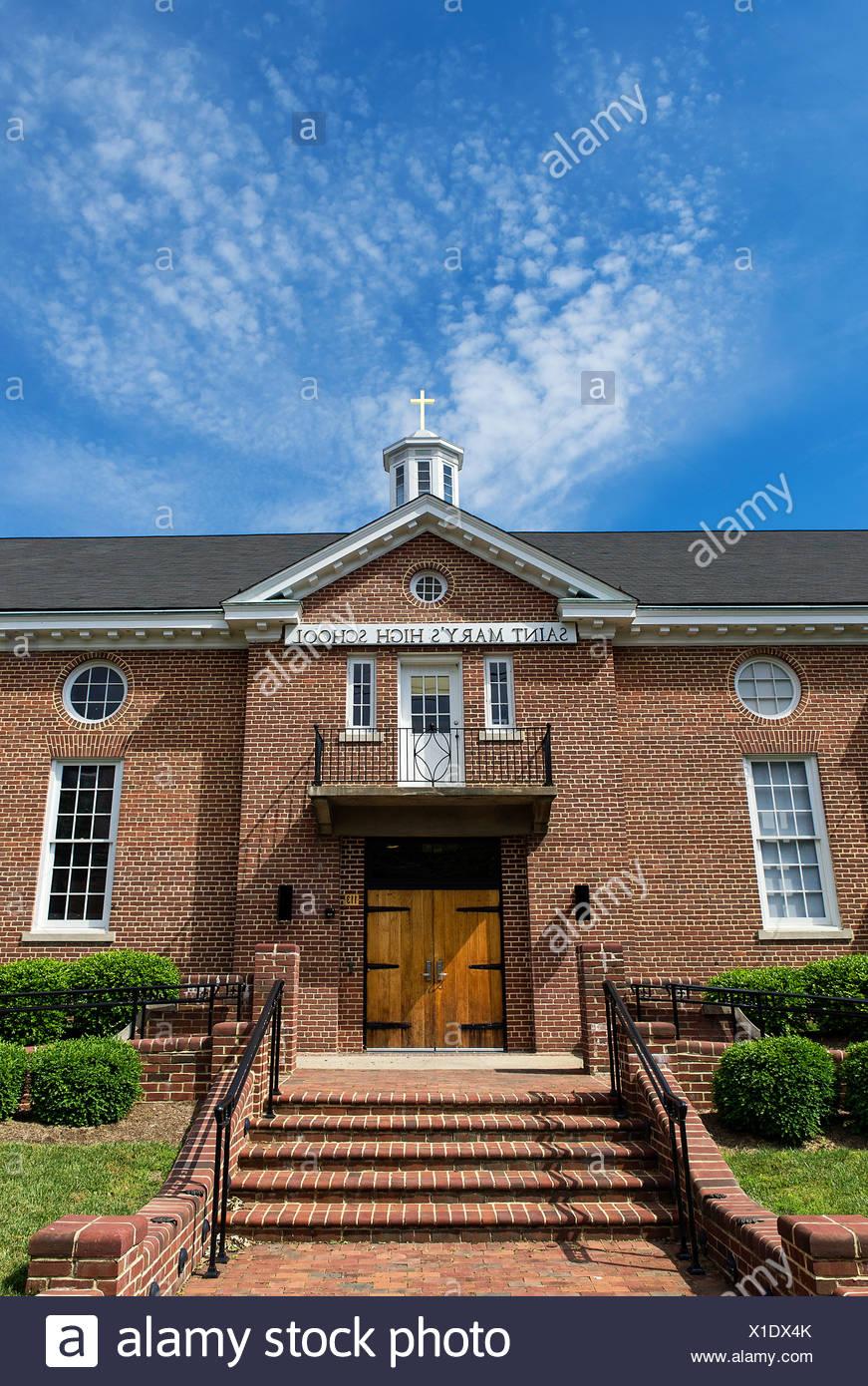 Str. Marys High-School, Annapolis, Maryland, USA Stockbild