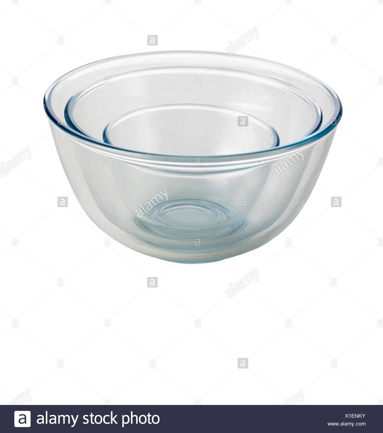 Glasschalen Stockbild