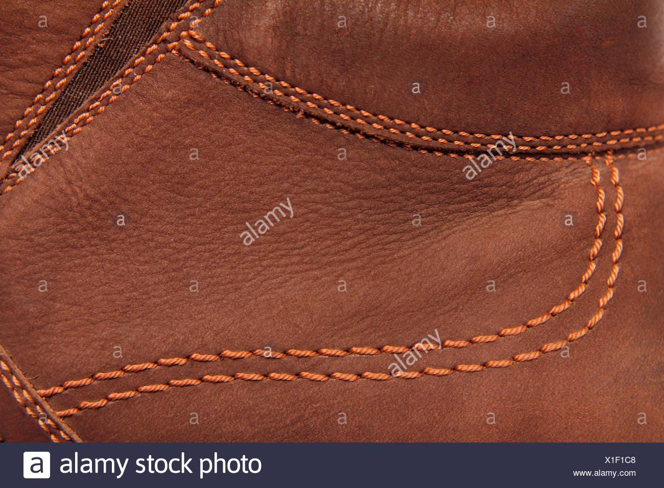Braun Leder Wildleder Stockbild