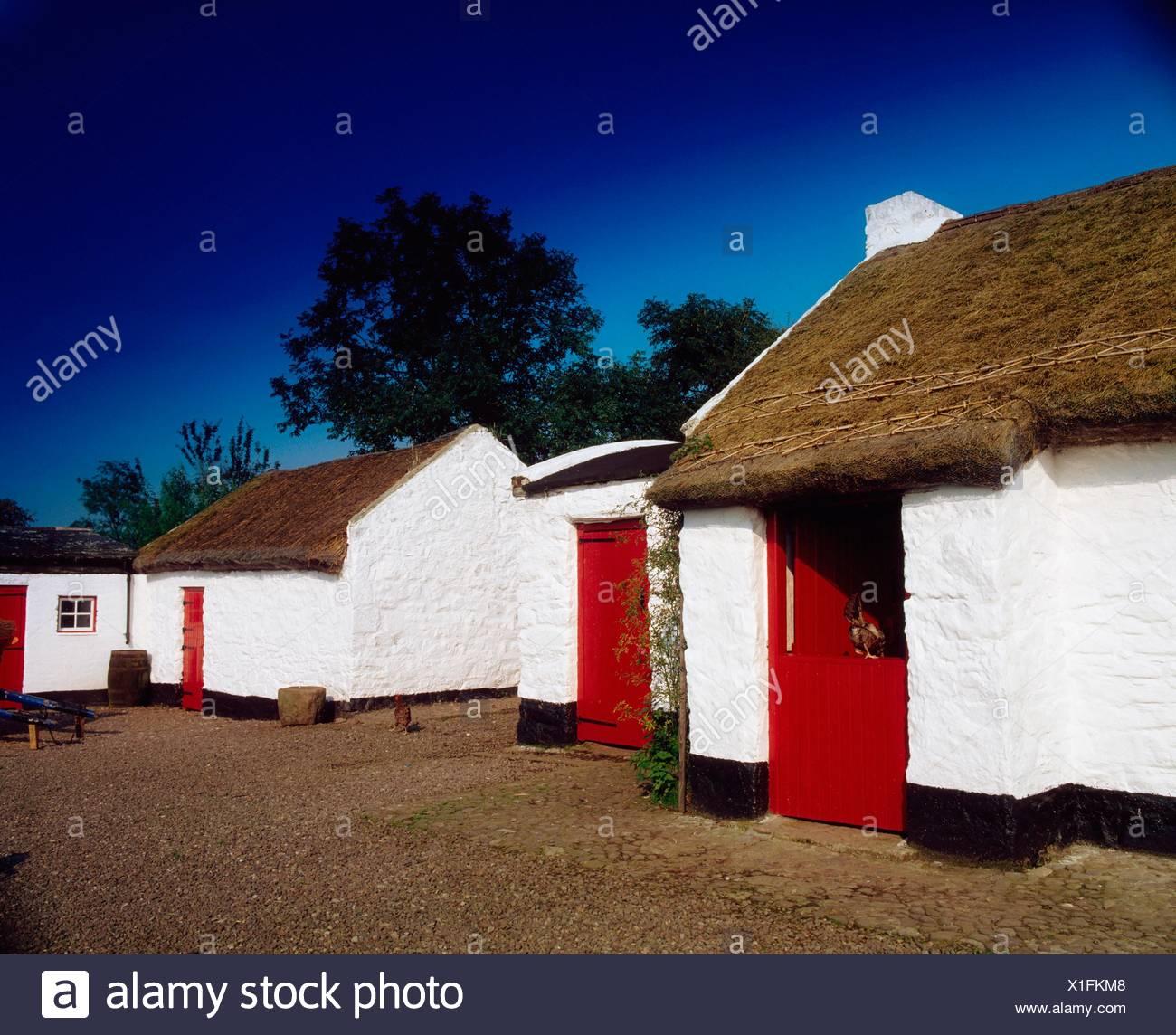 Angestammten Heimat, Co Tyrone, Irland zu gewähren; Gehöft der Familie von Ulysses Simpson Grant Stockbild