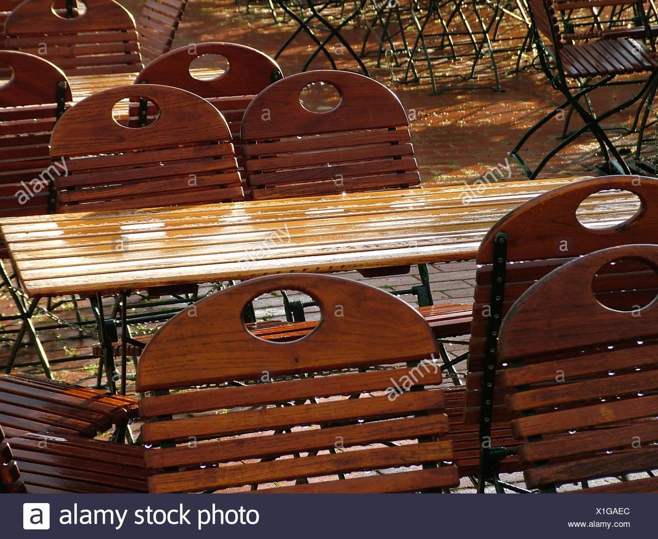 Gartentisch Und Stühle Holz.Holz Stühle Metall Nassbereich Kühlen Bier Flachen