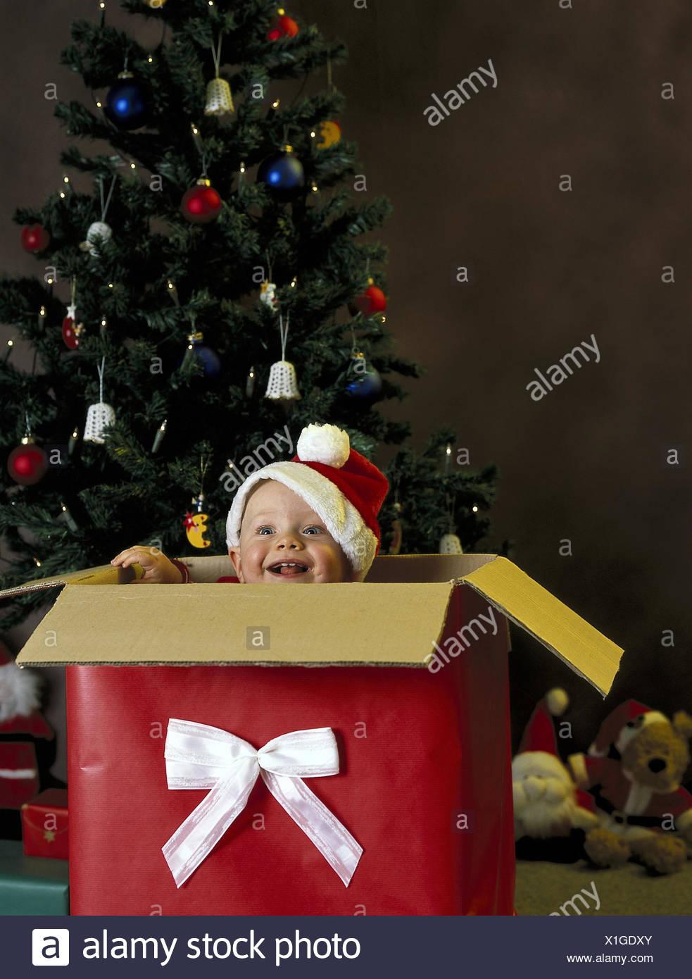 Weihnachten Geschenk Karton Baby Nikolausmütze