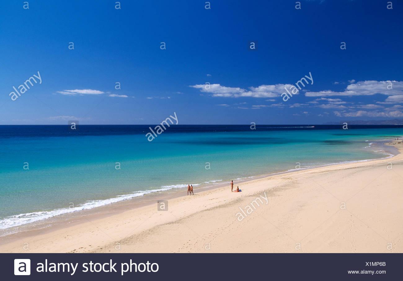 Strand von Tierra Dorada, Fuerteventura, Kanarische Inseln, Spanien, Europa Stockbild