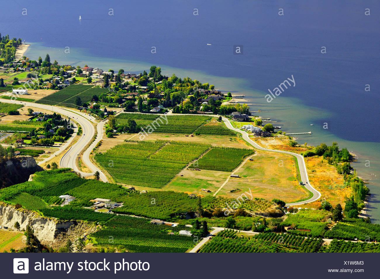 Ansichten der Summerland vom Riesen Kopf Park. Stockbild