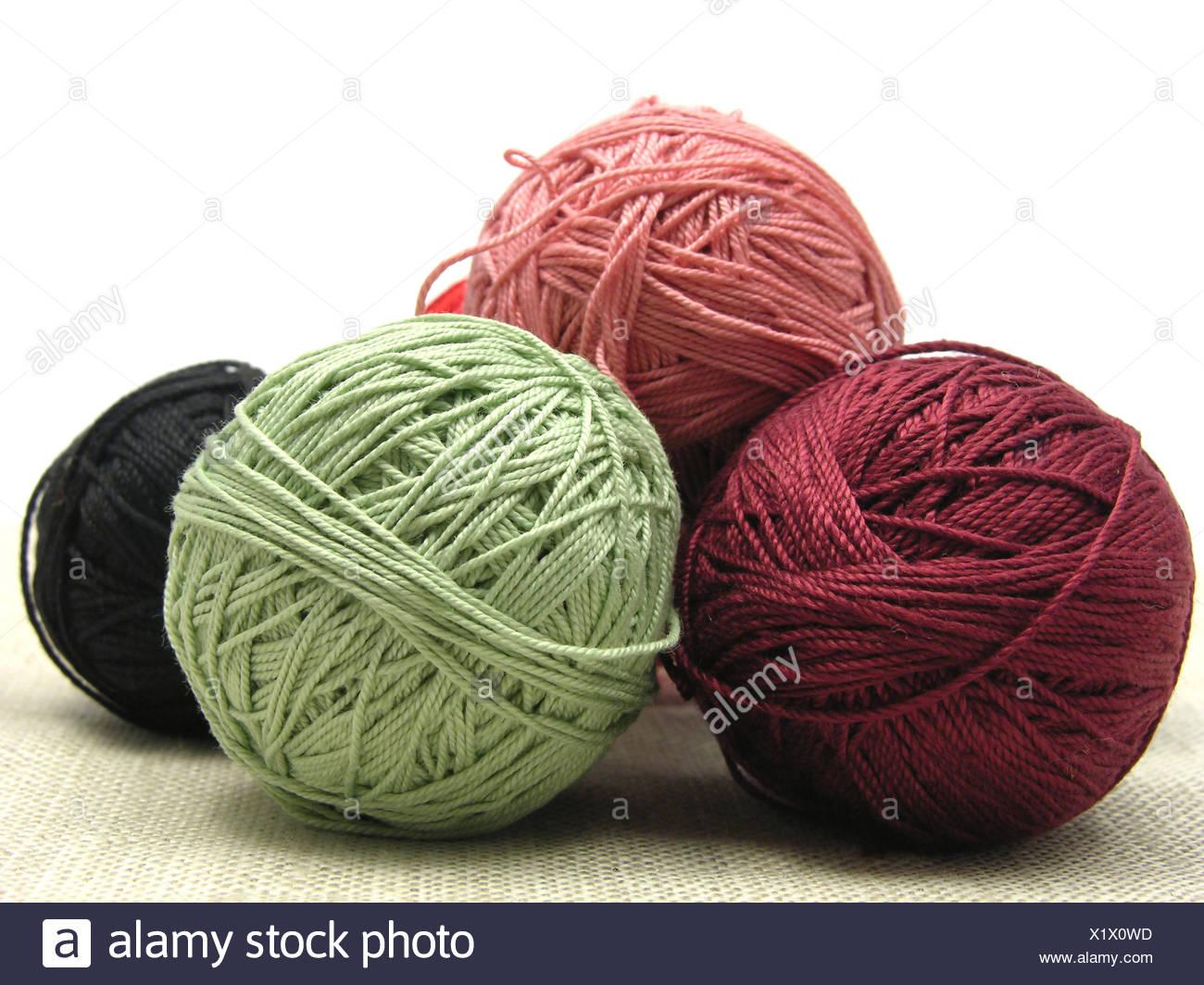 Wolle Stricken Handarbeit Knäuel Von Wolle Häkeln Blaue Farbe