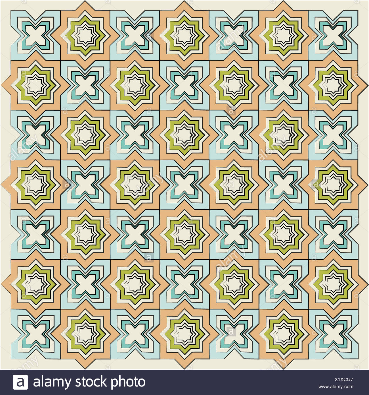 Islamische lineare Textur version Stockbild
