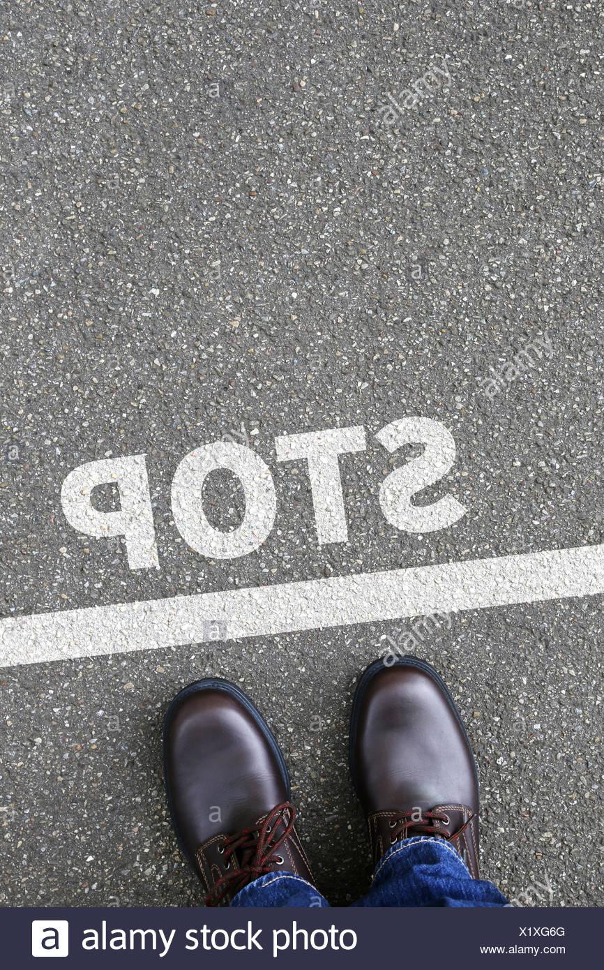 Stopp Stopp warten Business Konzept Karriere Stockbild