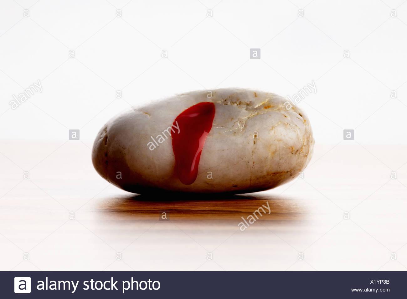 Blutende Stein Stockbild