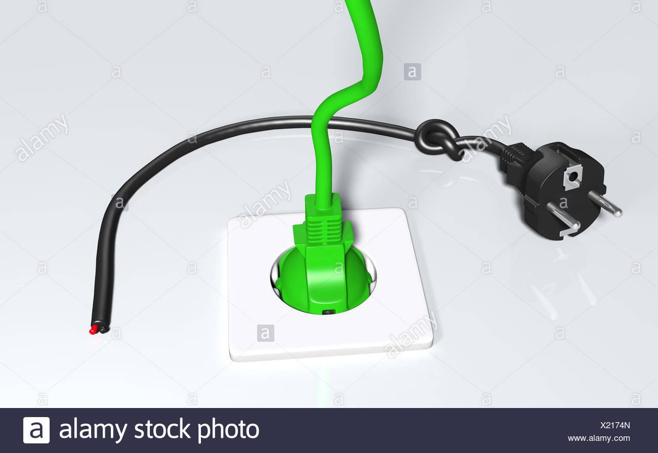 Ausgezeichnet Weiße Schwarze Und Grüne Elektrische Drähte Galerie ...