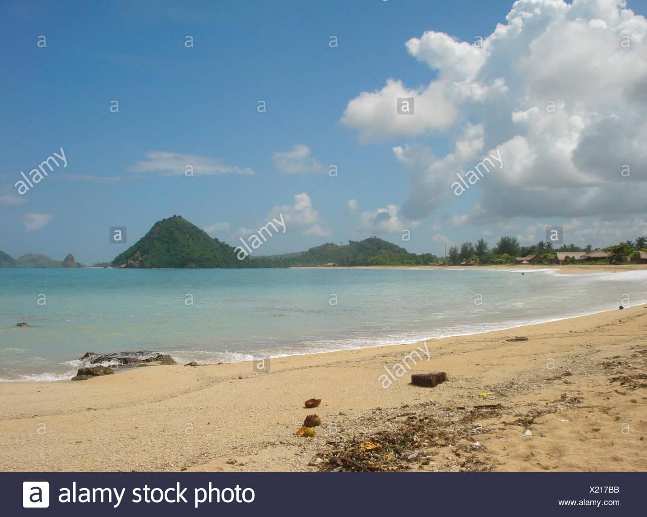 Landschaft der Küste Strand in Kuta, eine Insel in Indonesien Stockbild