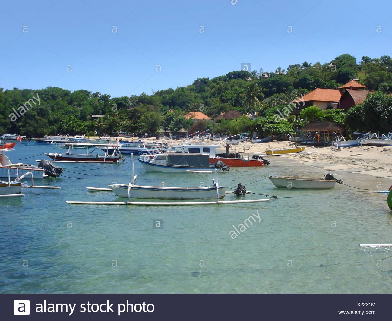 Küste Strand Landschaft auf Bali, eine Insel in Indonesien Stockbild