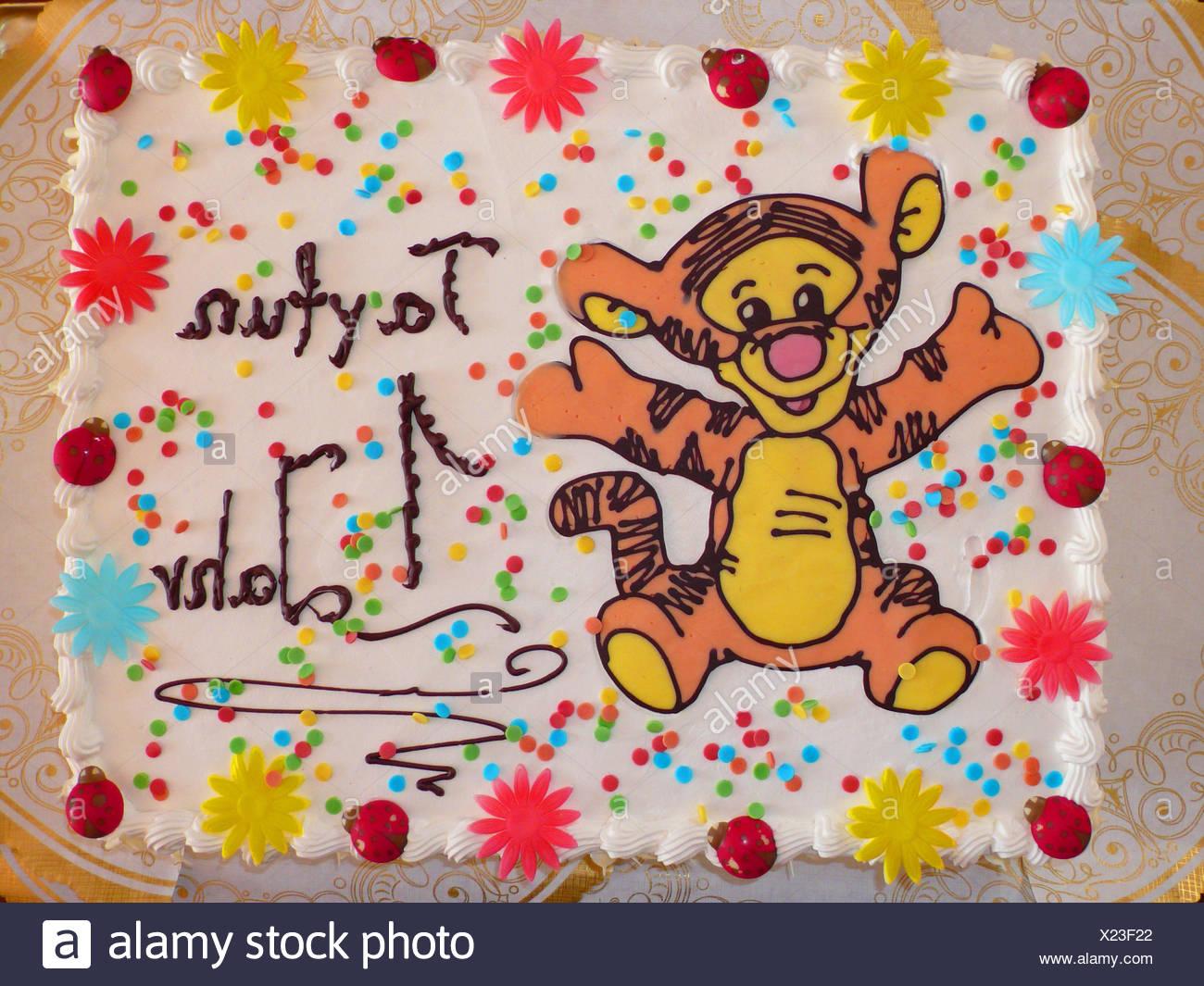 Speziell Fur Einen Jungen Ersten Geburtstag Kuchen Stockfoto Bild