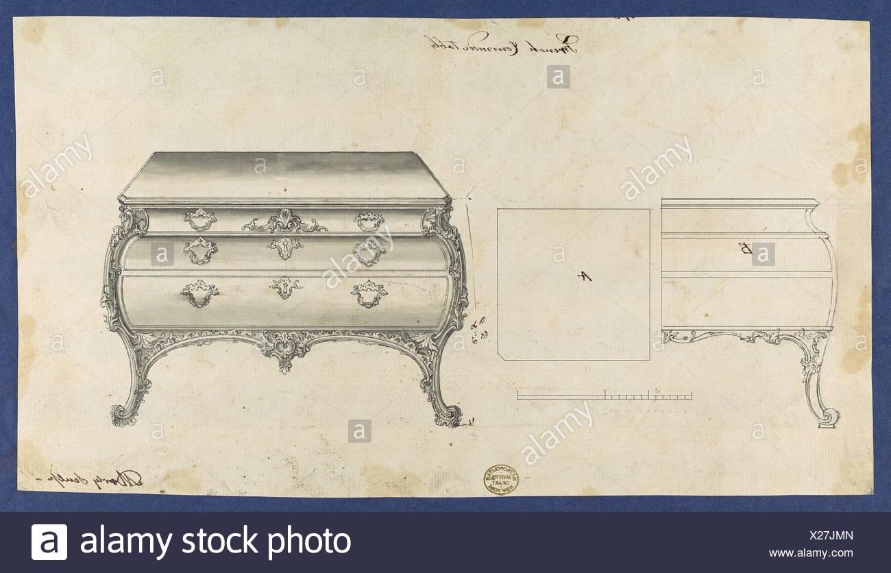 Franzosische Kommode Tisch Von Chippendale Zeichnungen Vol Ii