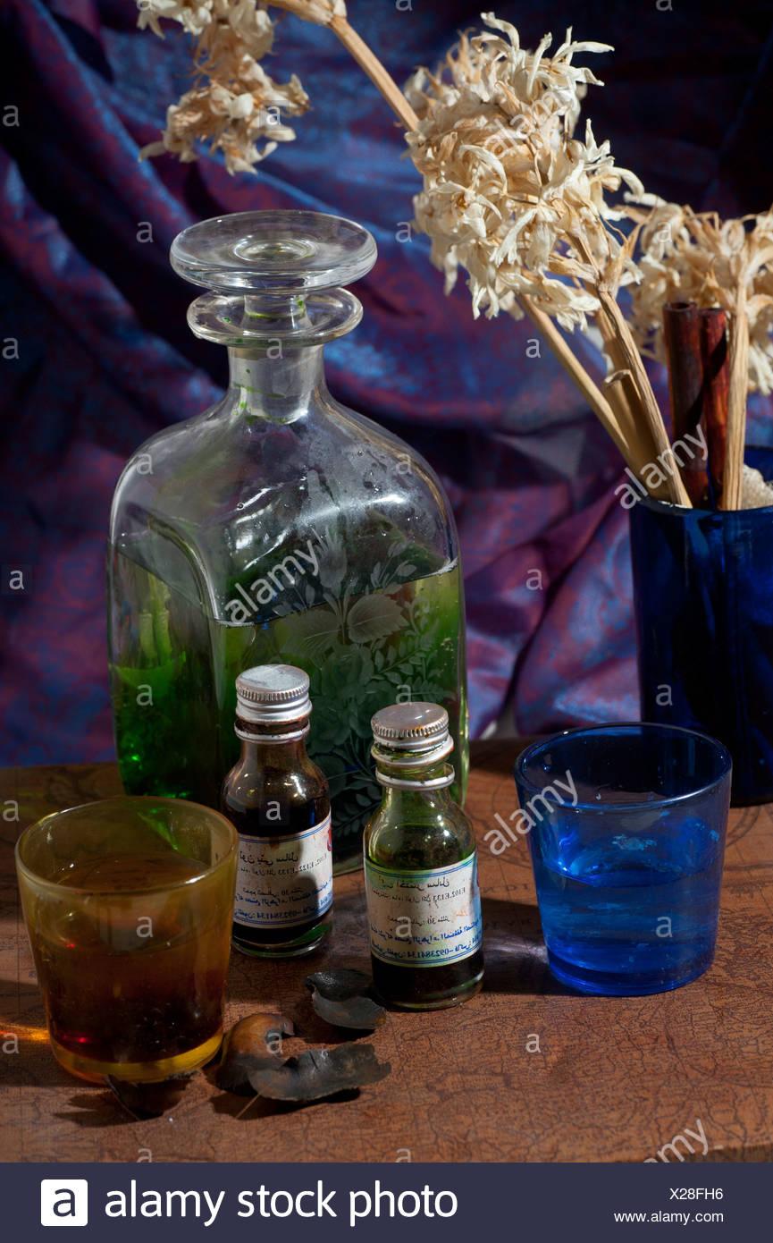 Nahen Ostens Stillleben Flaschen Parfüm Wesen Stockbild