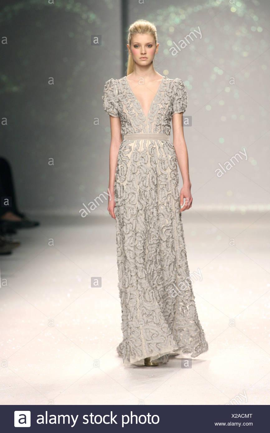 strukturierte grau rüschen langes kleid mit kurzen Ärmeln