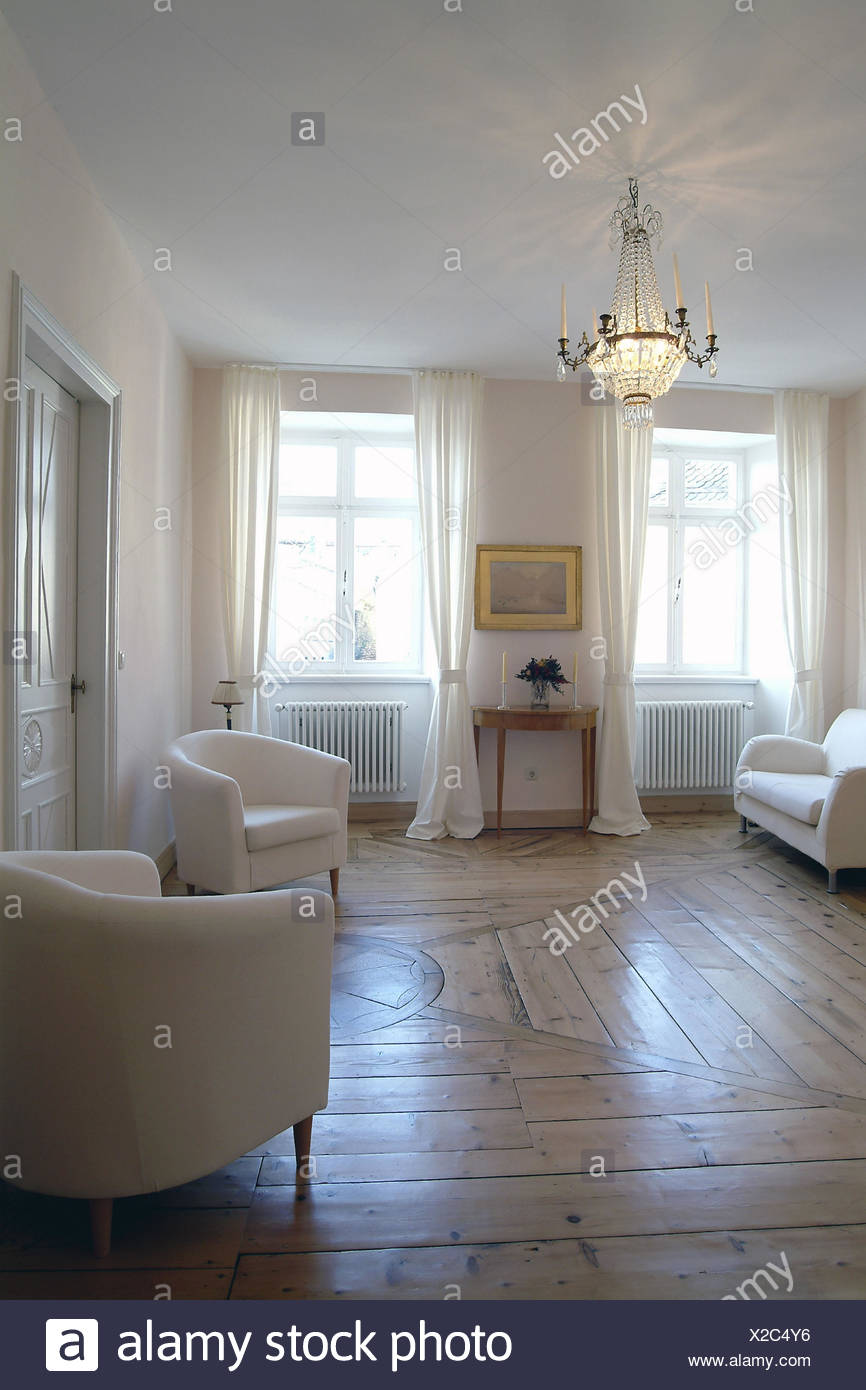 Lebenden Raum Sessel Sofa Kronleuchter Wohnflache Einrichtung