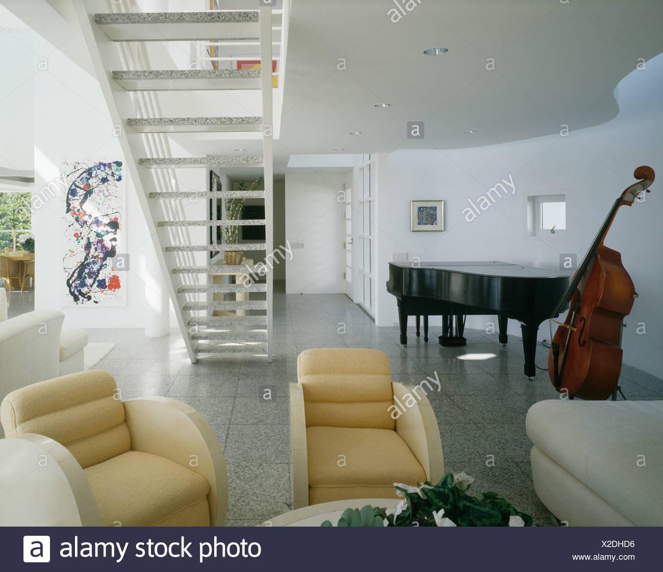 Deco Wohnzimmer Mit Treppe - linearsystem.co - Home Design Ideen und ...