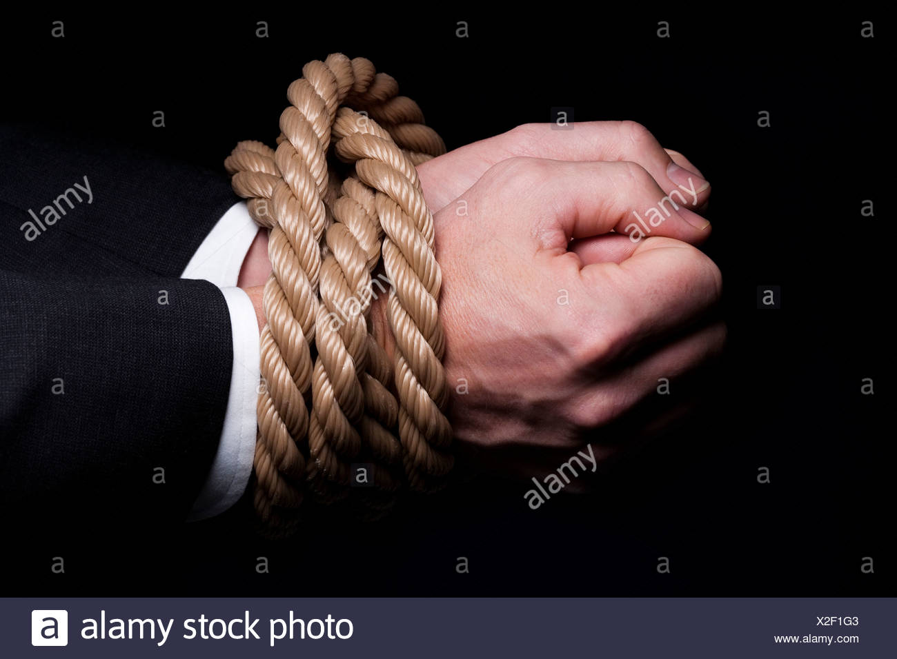 Hands Tied Wrists Rope Stockfotos & Hands Tied Wrists Rope Bilder ...