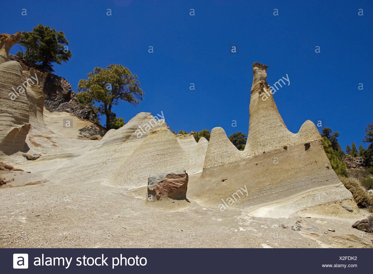 Paisaje Lunar Rock Formation, Kanaren, Teneriffa, Vilaflor Stockbild