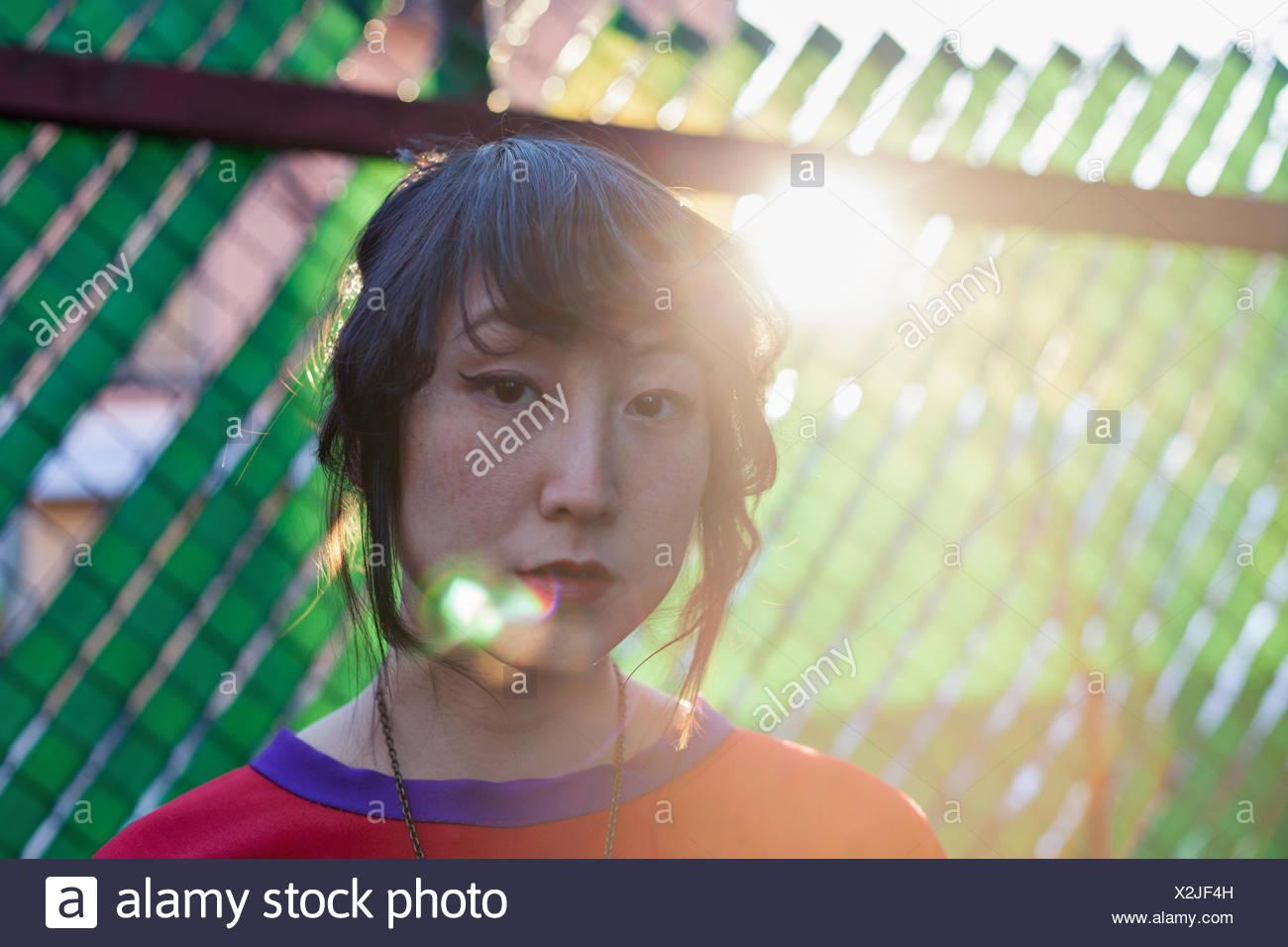 Porträt einer schönen jungen Frau Stockbild