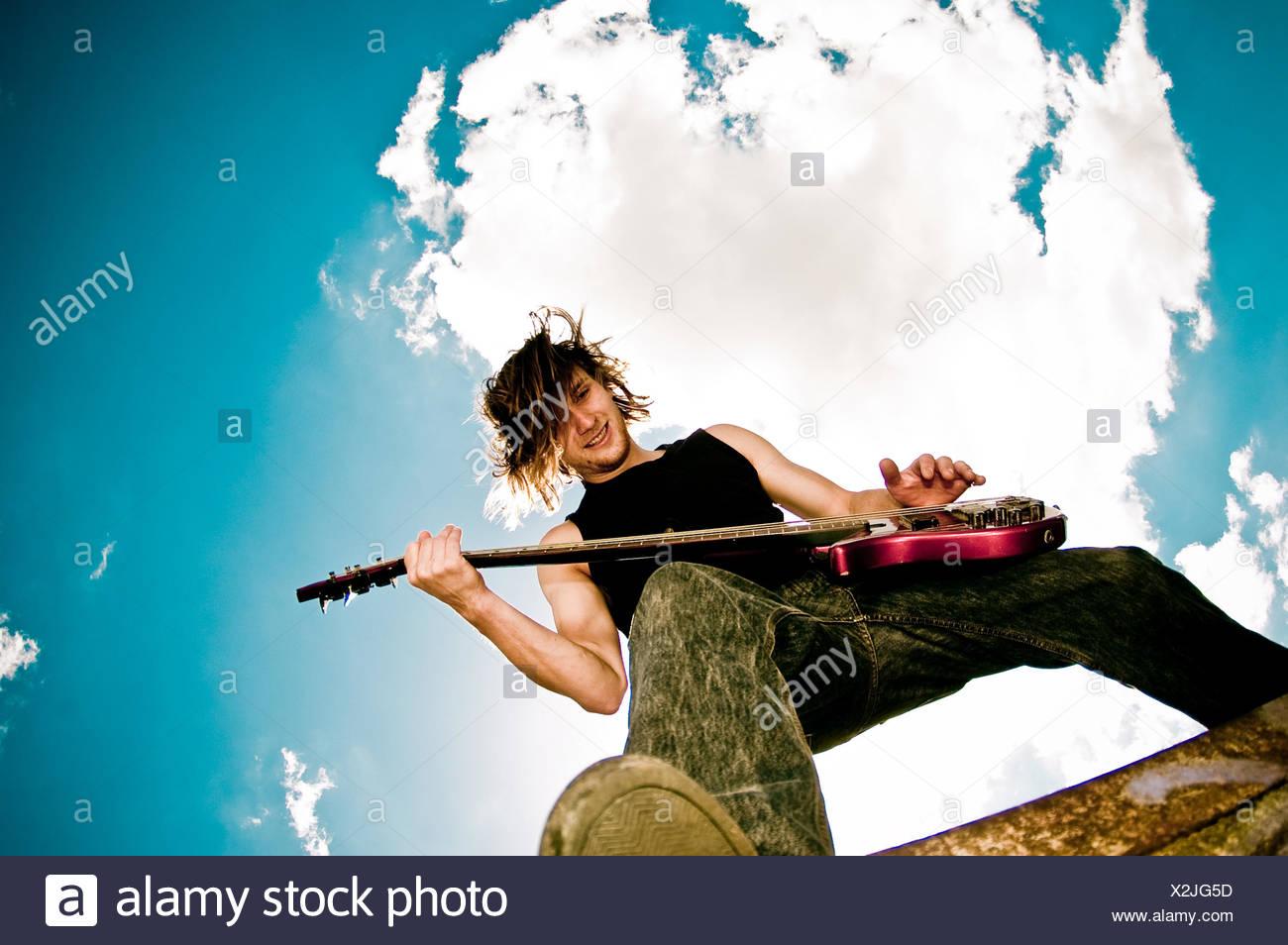 Musiker, rocker Stockbild